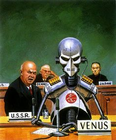 Cover art for Amazing Science Fiction Stories (October by Ed Valigursky. Arte Sci Fi, Sci Fi Art, Cyberpunk, Science Fiction Kunst, Pub Vintage, Vintage Space, Arte Robot, Steampunk, Classic Sci Fi