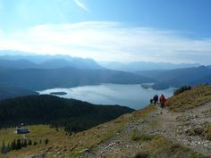 View of the Walchensee from the Jochberg in the Bavarian Alps, Germany