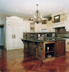 unique kitchen with french country elements