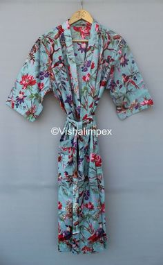 Vintage Kimono, Vintage Cotton, Plus Size Robes, Kimono Dressing Gown, Bath Robes For Women, Cotton Kimono, Long Kimono, Maxi Gowns, Bridesmaid Robes
