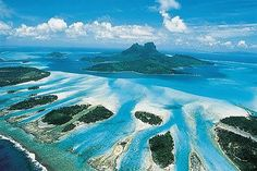 Once an active volcano, the idyllic Polynesian archipelago of Bora Bora is made up of the remnants of the collapsed cone, and is one of the world's number one destinations for romantic getaways.