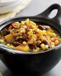 Bean, Corn and Squash Stew Recipe from Food & Wine