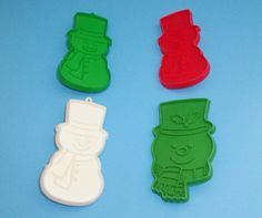 4 Hallmark Holiday Cookie Cutters Snowmen by AnEclecticEccentrica