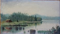 Antique Oil Painting Landscape Original Fine Art by VintageArtRoom, $120.00SOLD