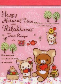Image 0 of San-X Rilakkuma Relax Bear 2 Design Mini Memo Pad #48 (Happy Natural Time)(M1266