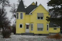 WHEN I SEE A HOUSE painted a jolting hue like this bright yellow house in Lamberton, I have questions. Is this the homeowner's favorite color? How have people reacted to this color choice?