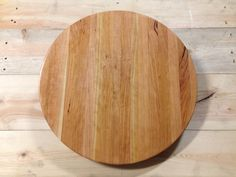 "Beautiful 18"" x 1.5"" round solid Cherry cutting board."