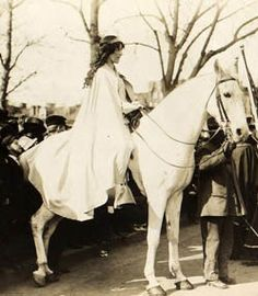 Inez Milholland Boissevain - suffragist, lecturer and most often known as the woman leading the 1913 Washington, D.C. Suffrage March on the white horse.