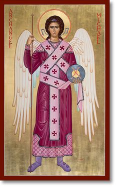 Monastery Icons: strengthening faith and encouraging Christian devotion in churches, schools, and individuals through a ministry of traditional Christian art. Religious Images, Religious Icons, Religious Art, Monastery Icons, Angel Protector, Spiritual Paintings, Angel Warrior, Christian Devotions, Angels Among Us