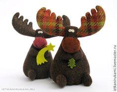 Купить БИРЮЗОВЫЙ ЛОСЬ - разноцветный, лось, игрушка, игрушка ручной работы, игрушка в подарок