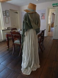 Jane Austen's house museum at Chawton Cottage, view from the dining parlour