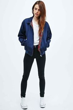 "Vintage Renewal ""Harrington"" Jacke in Marineblau"
