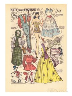 Archie Comics Retro: Katy Keene Snow Fashions (Aged) Prints by Bill Woggon - AllPosters.co.uk