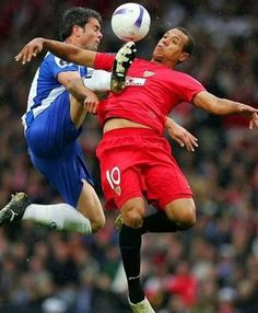 funny soccer face off..