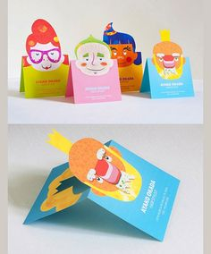 I like the pop-up face. What if it is a real photo?  really love this idea! need start thinking about making my own business cards