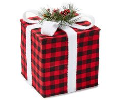Tidings Collection Large Buffalo Check Gift Box | Big Lots $12