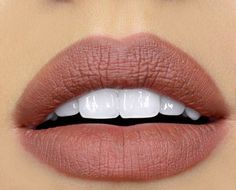 Mauve lips and white teeth. Gorgeous. Get the look with MAC Velvet Teddy - available on ShopStyle!