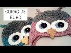 Video de como tejer Gorro de Buho a Crochet - Tallas de 0 a 2 años - Parte 1 de 2