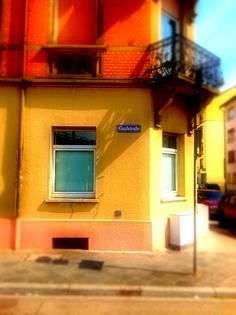 For my English friends: this is Gauß-Street.