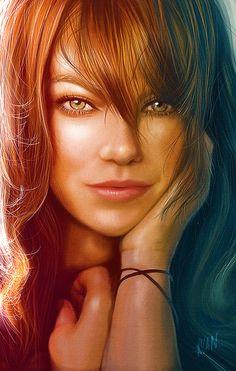 Emma Stone by Ryan M.