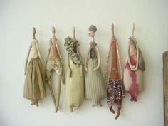 felt sculpture-dolls