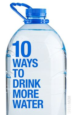Drink more water with these tips.