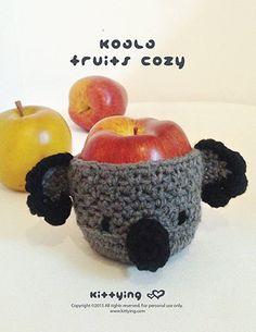 Cute Koala Cup/Fruit cosy crochet pattern! So adorable!