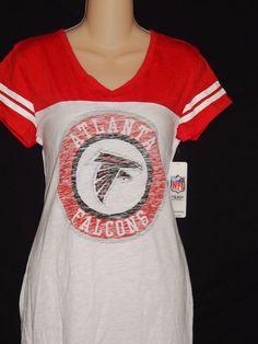 Atlanta Falcons Tee Shirt WOMENS Size Medium New Ladies White NFL Team  Apparel… Ladies White 759e663fe
