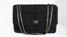 26682d9ed1c7 Chanel Wool Mademoiselle Jumbo Flap Shoulder Bag. Get one of the hottest  styles of the. Tradesy