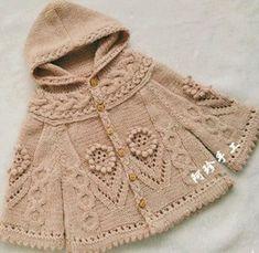 Girls Baby Kids New Knit Cardigan Models and Tesettür Markaları Baby Knitting Patterns, Knitting Designs, Baby Patterns, Baby Pullover, Baby Cardigan, Knit Cardigan, Hooded Cardigan, Crochet For Kids, Knit Crochet