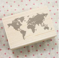 World Map Deco Stamp