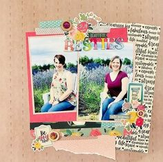 Beautiful Besties scrapbook layout by Meggy (@craftymeggy) using the gorgeous papers and Upgrades from our September 2020 Kit ✂💯✂  At Scrapbooking Store, we made monthly kits available on your doorstep, no more store visits! 💝  #scrapbookingstore #iam2020 #scrapbooklayout #scrapbookingkits #papercraft #scrapbooking #cardmaking Baby Scrapbook, Scrapbook Paper, Scrapbooks, Besties, Cardmaking, Cheer, Paper Crafts, Layout, Stamp