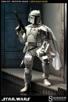 STAR WARS BOBA FETT PROTOTYPE ARMOR 1:6 SCALE SIDESHOW FIGURE *NEW*