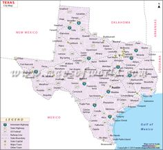 Texas Cities Map