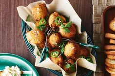 Hush puppies - Pop these spiced up polenta balls on a plate for a fiery starter.