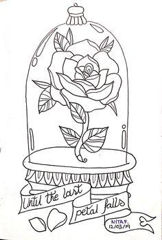 Rosa de la Bella y la Bestia Love Coloring Pages, Cartoon Coloring Pages, Adult Coloring Pages, Coloring Books, Disney Coloring Sheets, Disney Princess Coloring Pages, Arte Disney, Disney Art, Art Drawings Sketches Simple