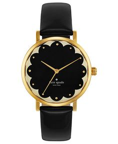 nice kate spade new york Watch, Women's Metro Black Leather Strap - Women's Watches - Jewelry & Watches - Macy's Black And Gold Watch, Black Gold, Black White, Ring Armband, Kate Spade New York, Mode Lookbook, Kate Spade Watch, New Handbags, Mode Inspiration