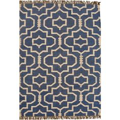 Shop for Hand-woven Blue Jute/Wool Flat Weave Rug (6' x 9'). Get free shipping at Overstock.com - Your Online Home Decor Outlet Store!…