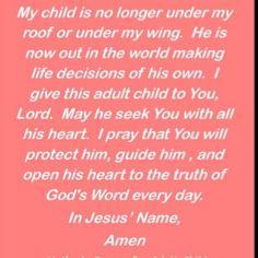 Mother's adult child prayer.