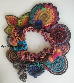 freeform crochet by Cécile Meraglia