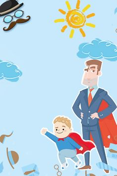 fathers day happy blue father and son Blue Background Wallpapers, Cartoon Background, Colorful Backgrounds, Happy Fathers Day Wallpaper, Fathers Day Wallpapers, Fathers Day Letters, Fathers Day Poster, Happy Children's Day, Happy Kids