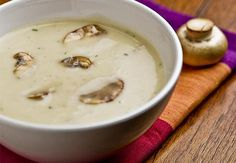 A super quick dairy-free cream of mushroom soup using everyday ingredients and the help of coconut milk beverage. Optionally vegan and soy-free., I used coconut oil instead of margarine. Mushroom Barley Soup, Mushroom Soup Recipes, Vegetable Soup Recipes, Allergy Free Recipes, No Dairy Recipes, Cooking Recipes, Healthy Recipes, Healthy Soups, Water Recipes