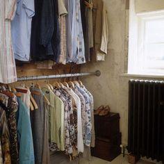 Hanging clothes storage idea
