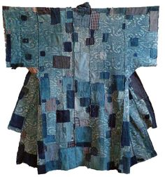This kimono use lots of geometrical    shape to connect together to creates the new style of kimono which looks quite stylistic.