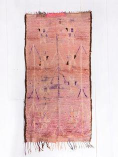 "$785; 6.2' x 3.1'  Vintage Moroccan Berber Rug, ""The Miriam,"" Boujad Rug, Purple Rug, Pink Rug, Faded Rug, Colorful Rug, Bohemian Decor, Boho Rug, Turkish Rug"