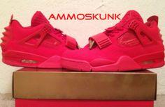 "Air Jordan 4 ""Red October Yeezy Revelation"" Custom"