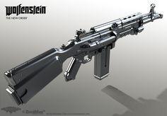 Assault Rifle 1960 - Wolfenstein: The Art Dump - Polycount Forum