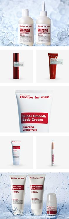 Recipe for men products, perfect for the working man's day to day needs  #mens #cosmetics #gift ideas