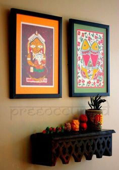 Tanjore painting Indian style decor Home decor Pinterest