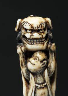 http://www.invaluable.com/auction-lot/japanese-edo-meiji-ivory-netsuke-monkey-holding-48-c-8264fac8fe